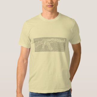 AK-47 ASCII art with bible quote encryption Tee Shirt