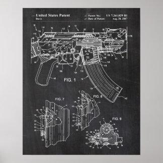 Ak-47 Bolt Locking Patent Poster