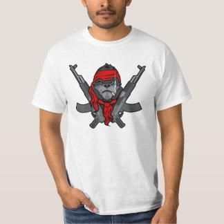 AK-47 Gorilla rebel fighter cartoon T-Shirt