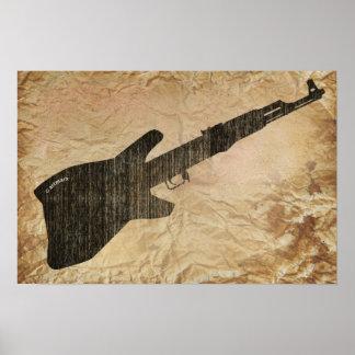 AK 47 Guitar Posters