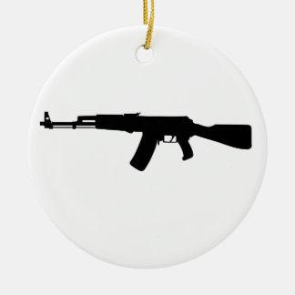 AK - 47 ROUND CERAMIC DECORATION