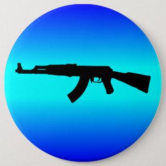 AK-47 Silhouette 6 Cm Round Badge