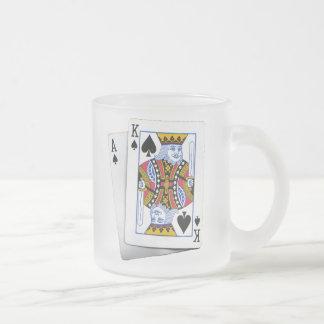AK FROSTED GLASS COFFEE MUG
