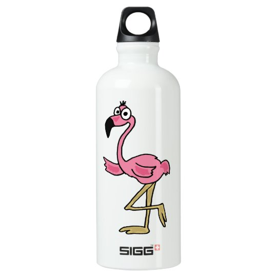 AK- Funny Pink Flamingo Water Bottle