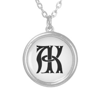 AK Monogram Personalized Necklace