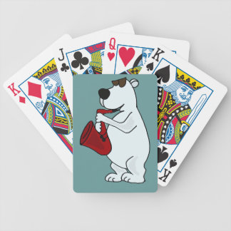 AK- Polar Bear Playing Saxophone Playing Cards