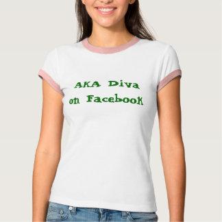 AKA Diva on Facebook T-Shirt