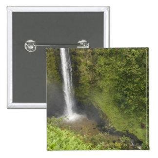 Akaka Falls, Hamakua Coast, Island of Hawaii, 15 Cm Square Badge