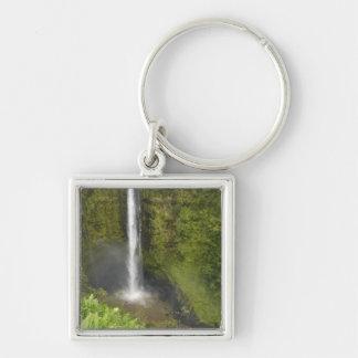 Akaka Falls, Hamakua Coast, Island of Hawaii, Silver-Colored Square Key Ring