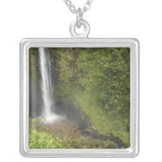 Akaka Falls, Hamakua Coast, Island of Hawaii, Silver Plated Necklace