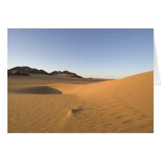 Akakus, Sahara desert, Fezzan, Libya. Card