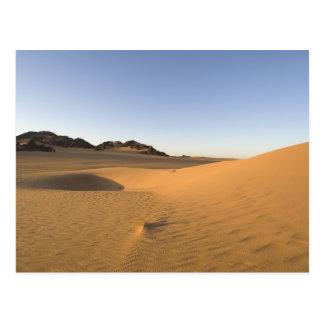 Akakus, Sahara desert, Fezzan, Libya. Postcard