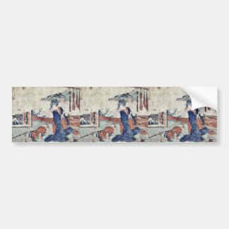 Akasaka  by Katsushika, Hokusai Ukiyoe Bumper Sticker