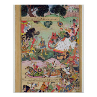 Akbar receiving the drums and standards captured f poster