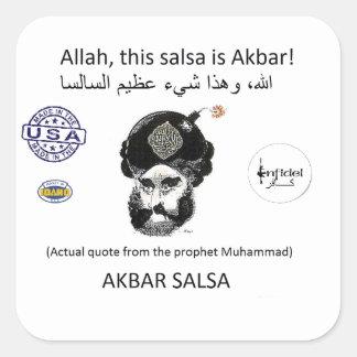 Akbar Salsa brand gear Square Sticker