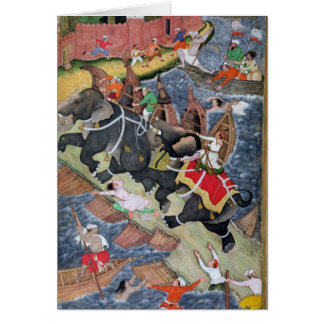 Akbar tames the Savage Elephant, Hawa'i Greeting Cards