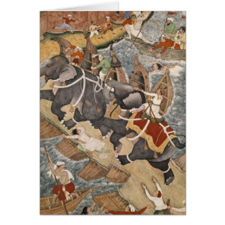 Akbar Tames the Savage Elephant, Hawa'i Cards