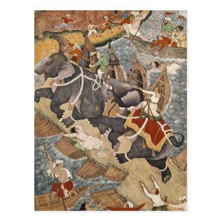 Akbar Tames the Savage Elephant, Hawa'i Postcards