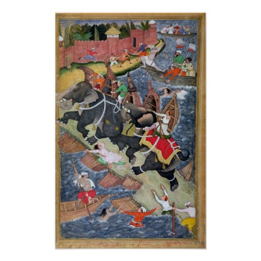 Akbar tames the Savage Elephant, Hawa'i Posters