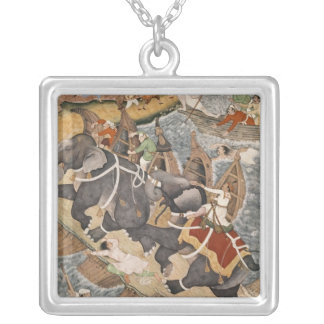 Akbar Tames the Savage Elephant, Hawa'i Silver Plated Necklace