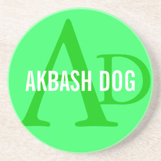 Akbash Dog Breed Monogram Beverage Coaster