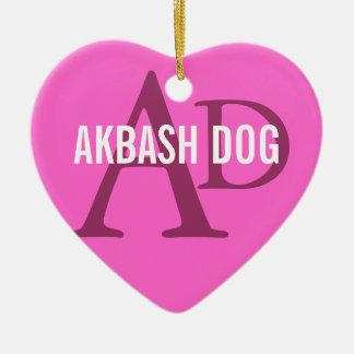 Akbash Dog Breed Monogram Christmas Tree Ornament