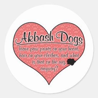 Akbash Dog Paw Prints Humor Stickers