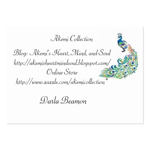 Akemi Collection Business Cards
