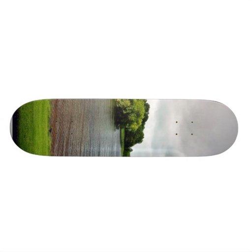 Akes Lough Gur Clouds Trees Ireland Skateboard Deck