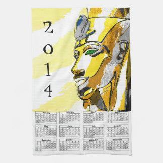 Akhnaton 2014 calendar on towel