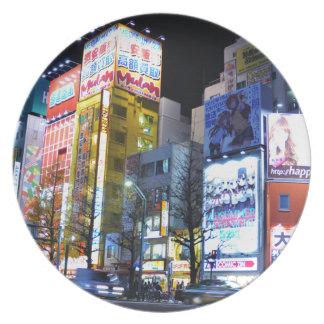 Akihabara (Electric City) in Tokyo, Japan Plate