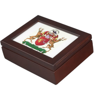Akins coat of arms large keepsake box