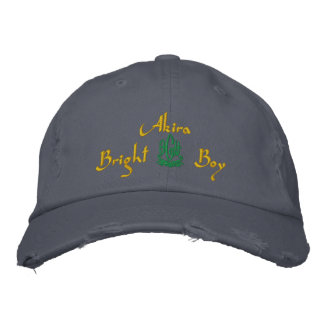 Akira Name With English Meaning Blue Embroidered Baseball Cap
