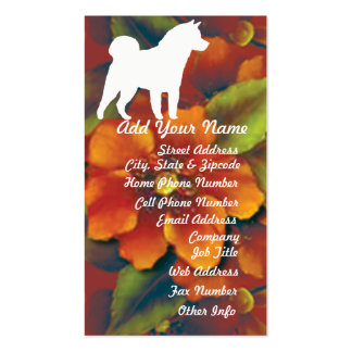 Akita Autumn Floral Pack Of Standard Business Cards