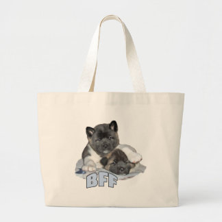 akita BFF canvas tote Tote Bag