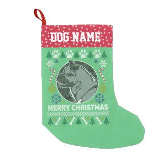 Akita Bull Breed Ugly Christmas Sweater Small Christmas Stocking