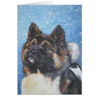 akita Christmas card