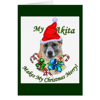 Akita Christmas Gifts Card