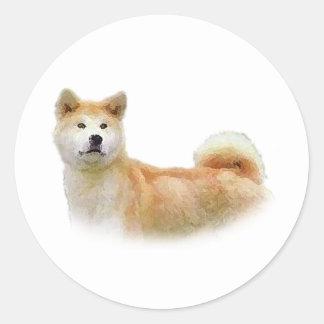 Akita Classic Round Sticker