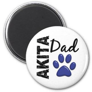 Akita Dad 2 6 Cm Round Magnet