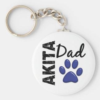 Akita Dad 2 Key Ring