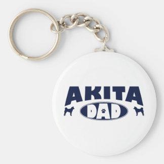 Akita Dad Key Ring