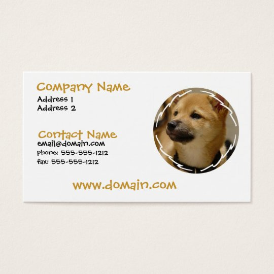 Akita Dog Business Card