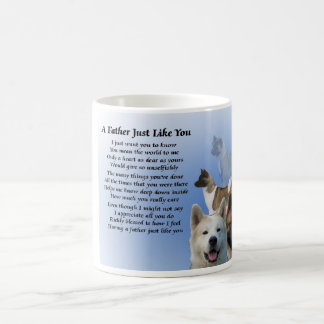 Akita Dog Father poem Mug