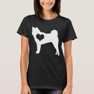 Akita Heart Dark T-Shirt