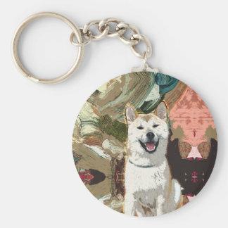 Akita Inu Dog Key Ring