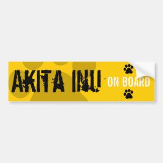 Akita Inu on Board Bumper Sticker