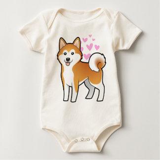 Akita Inu / Shiba Inu Love Baby Bodysuit