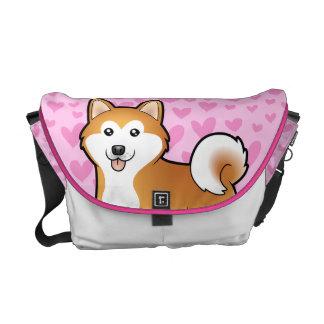 Akita Inu / Shiba Inu Love Courier Bag
