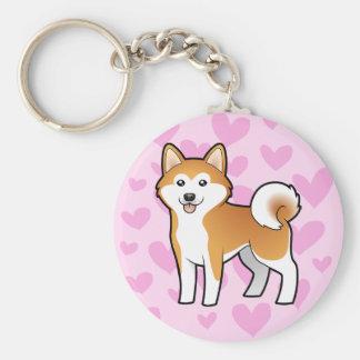 Akita Inu / Shiba Inu Love Key Ring